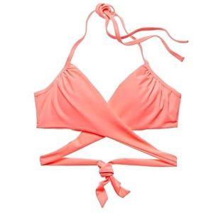 Coral Tie-Back Bikini Top